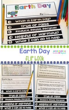 Teach your students all about Earth Day with this no prep double sided flip book! This informational flip book is a great addition to your plans and activities for Earth Day.   Here is what is included: What is Earth Day- Facts about why we celebrate this day True or False- Read and decide if sentence is true or false Reduce, Reuse, Recycle- Write what we can do by each picture Helpful or Harmful- Putting words in ABC or plus reading, identifying what we can do to help the Earth.....