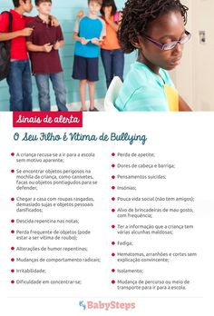 #O_Seu_Filho_É_Vítima_de_Bullying #babysteps #infográficos #filhos #bullying #violência