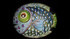 Sandie's painted rocks by SANDIESFINSNFEATHERS on Etsy