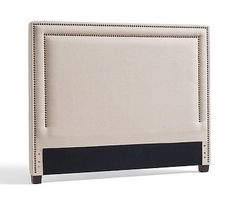 Tamsen Square Nailhead Headboard & Storage Platform Bed #potterybarn