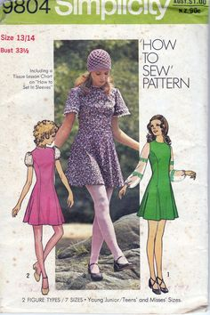 Another favorite of mine. I loved the sleeves on it! - Vintage 1970s pattern Simplicity 9804 by allthepreciousthings,