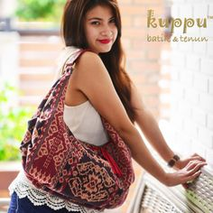 RUBI MAUMERE HOBO BAG (M) by: Kuppu Batik & Tenun 2.675.000,00 A natural-dye Tenun (weaving) bag from Maumere, Flores, combined with venetian red Italian cow leather, spacious for everyday style. - Medium size 45X27X10cm (LxHxW) - Handmade Tenun from Maumere, Flores, NTT, Indonesia - Venetian red genuine Italian cow leather - eco-suede fabric lining - Top zip closure - Weight: 0.6kg www.kuppubatiktenun.com More info Laura 08119103668 Pin BB 751E6162 #stylish #womanfashion #womanstyle