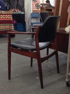 Arne Vodder rosewood armchair for Sibast .