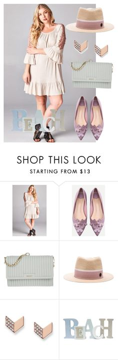 """""""dress"""" by masayuki4499 ❤ liked on Polyvore featuring WithChic, DKNY, Maison Michel and FOSSIL"""