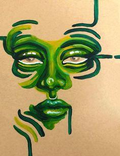 Cool Art Drawings, Art Drawings Sketches, Indie Drawings, Dark Art Illustrations, Pencil Art Drawings, Illustration Art, Hippie Painting, Arte Sketchbook, Funky Art