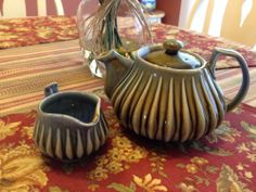 Wade Irish Porcelain Teapot & Creamer  Vintage Made in Ireland