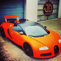 JD Customs Wicked Orange Bugatti Veyron