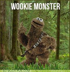Wookiee Monster Geekdom, Geek out, Fun, Funstuff, Nerd, Nerdy
