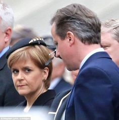 Nicola Sturgeon, the legend.  She appears to be eyeing up David Cameron's throat. :)