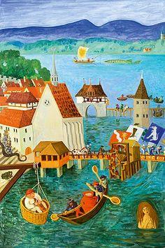 Hans Krüsi, Gebhard Hafner und Emil Medardus Hagner | Artlog Cow, Poster, Random Stuff, Painting, Drawing S, Kunst, Random Things, Painting Art, General Goods