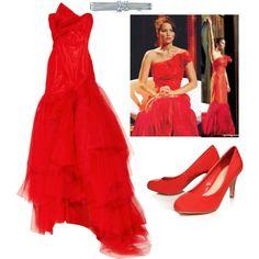 Katniss Interview Dress, created by jennifer-lamb