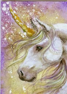 Lavender Dream - Unicorn ACEO by BlackAngel-Diana.deviantart.com on @deviantART