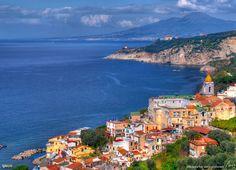 Massa Lubrense and Vesuvio – Italy  Nearby Mt. Vesuvius, Pompeii, Herculaneum, and Naples Italy
