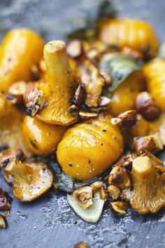 GLUTEN-FREE VEGAN SWEET POTATO-PUMPKIN GNOCCHI WITH SAGE, CHANTERELLE MUSHROOMS AND CHILI ROASTED HAZELNUTS | lachsbroetchen | Bloglovin'