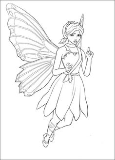 free fairy pictures | Barbie fairy coloring pages are one of the activities that support the ...