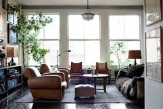 Open Concept Space: Roman and Williams {loft living room}