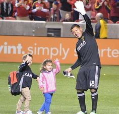 Nick Rimando and his 2 cute little kids