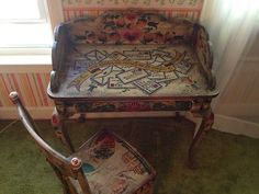 Peter Hunt Hand Painted Desk AND Chair | eBay