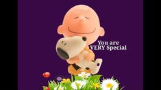 "Charlie Brown & Snoopy Love Video: ""You Are Very Special"" Charlie Brown Y Snoopy, Charlie Brown Quotes, Snoopy Love, Snoopy And Woodstock, Charlie Brown Videos, Happy Birthday Video, Birthday Songs, Happy Birthday Wishes, Good Morning Funny"