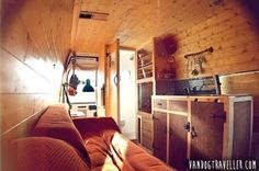 Man quits job to convert old van into a cozy solar-powered mobile cabin | Inhabitat - Green Design, Innovation, Architecture, Green Building