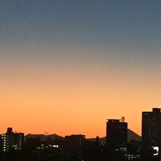 Sunset and Mt.Fuji