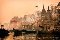 The River Ganges,  Varanasi, India,  by Gerald Gay