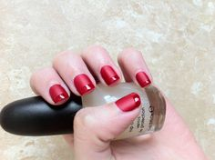 Matte with gloss tips. OPI - The Thrill of Brazil