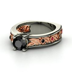 Beautiful Mixed Metal Gemvara Ring