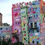 James Rizzi, New York pop artist building.