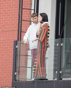 Getting cozy: Dua Lipa cozied up outside a building Downtown with Anwar Hadid in NYC Tuesd. Bella Hadid, Gigi Hadid, Anwar Hadid, Getting Cozy, Celebrity Couples, Mail Online, Girl Crushes, Daily Mail, Queens