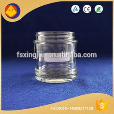 Hot selling products beautiful cheap crystal empty honey glass jars with round bottom