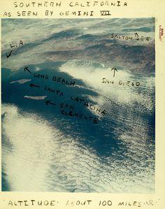 Southern California from Gemini VII