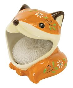 This Fox Scrubby Holder by Boston Warehouse is perfect, $7 !!  #zulilyfinds