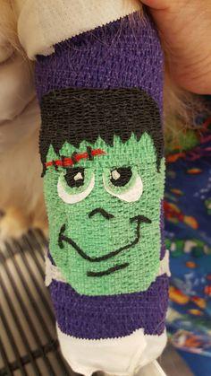 Frankenstein vetwrap design for a special patient!