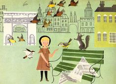Vintage Illustration by husband and wife team Alice and Martin Provensen, I absolutely love them.x