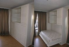 murphy bed with cabinets - convertible space