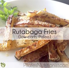 Rutabaga Fries have half the carbs of regular [potato] fries. Give this low-carb, Paleo recipe a try!