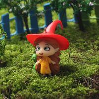 1 pcs 4 projetos Floresta Bruxa miniaturas dos desenhos animados meninas fada do jardim gnome decoração artesanato decoração de casa bonsai musgo terrário para DIY