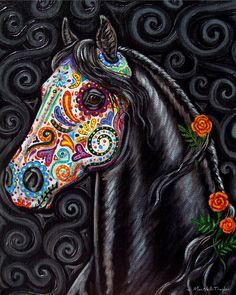Dia De Los Muertos Horse art