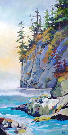 What is Your Painting Style? How do you find your own painting style? What is your painting style? Watercolor Landscape Paintings, Seascape Paintings, Abstract Landscape, Abstract Art, Painting Art, Landscape Artwork, Contemporary Landscape, Art Paintings, Art Aquarelle