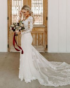 Wedding Dresses With Charm For Fall 2021 ❤ fall wedding dresses sheath with long sleeves lace essenseofaustralia #weddingforward #wedding #bride #weddingoutfit #bridaloutfit #weddinggown