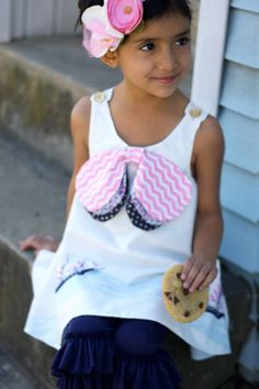 Lily Belle Pinafore Sewing Pattern & Ruffled Leggings | Violette Field Threads