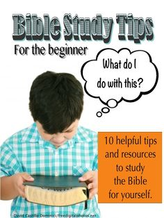Bible Study Tips: for the beginner