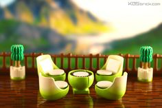 Mountain Villa Terrace Chair Set | by kosbrick