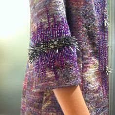 Sleeve detail, Badgley Mischka Resort 2013. #bgbadgley