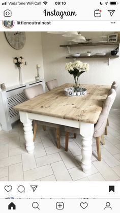 Table Top Covers, Dining Bench, Dining Room, Kitchen Design, Kitchen Ideas, Country Kitchen, Home Furniture, Beautiful Homes, Shabby Chic