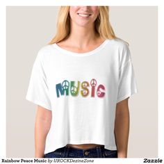 Rainbow #Peace #Music #Shirts   #zazzle