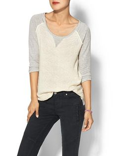 Potter's Pot Textured Knit Baseball Top | Piperlime $59.00
