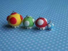 mario clay charms | charms are made using cold porcelain clay fimo clay or polymer clay ... Más