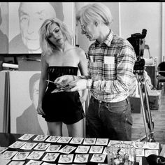 Debbie Harry and Andy Warhol photographed by Chris Stein